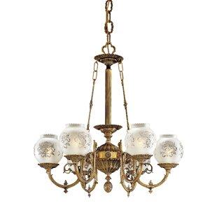 White vintage chandelier wayfair vintage 6 light shaded chandelier aloadofball Gallery