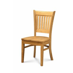 Miriam Solid Wood Dining Chair (Set of 2) Breakwater Bay