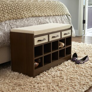 Wood Storage Bench With Cubbies