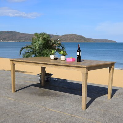 Duchene Wooden Dining Table by Highland Dunes Best Choices