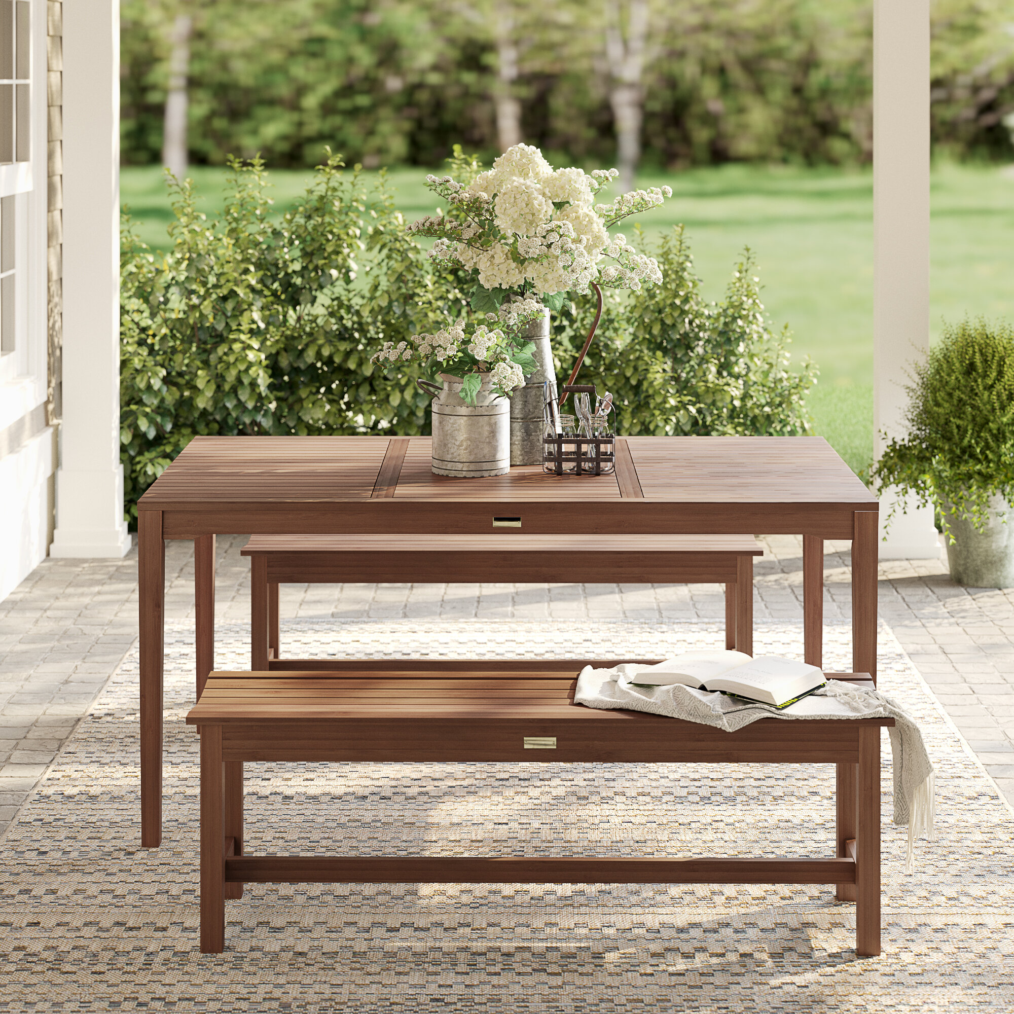 Super Tovar Bench 3 Piece Dining Set Gmtry Best Dining Table And Chair Ideas Images Gmtryco