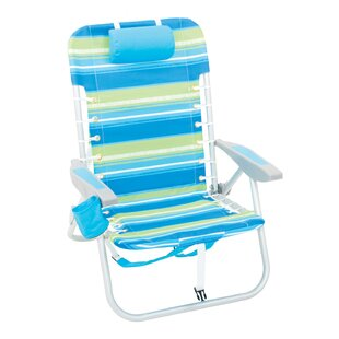 Rio Brands Laced Up Backpack Reclining/Folding Beach Chair (Set of 20)