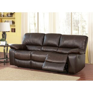 Latitude Run Husebye Leather Reclining Sofa