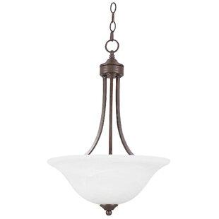 Winston Porter Dinkins 3-Light Bowl Pendant