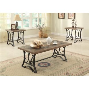 Best Tillman Coffee and End Table Set (Set of 3) By Charlton Home
