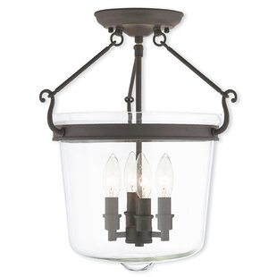 Gracie Oaks Bellwood 4-Light Semi Flush Mount