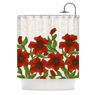 Poppy Field By Art Love Passion Single Shower Curtain by East Urban Home Wonderful