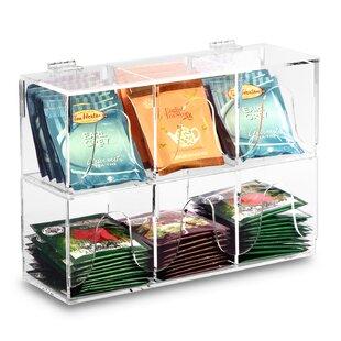 2ec766fdeb0 2 Piece Acrylic Serve Pouch Tea Bag Divided Box Holder Set