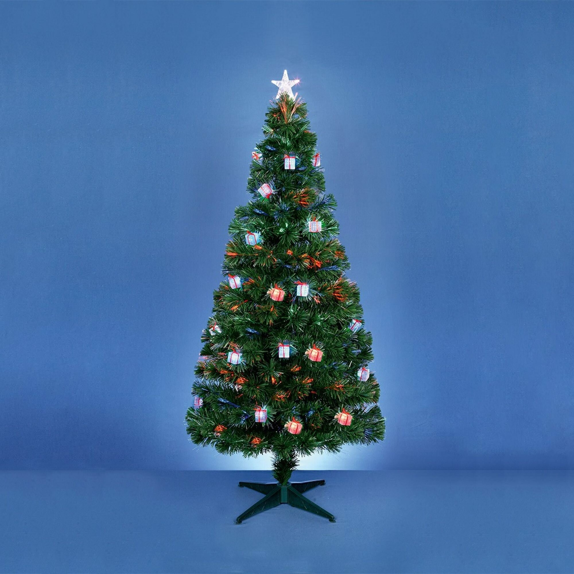 Parcel In The Attic 6ft Green Artificial Christmas Tree With Led Lights Stand Wayfair Co Uk