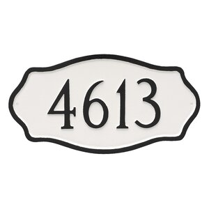 Hamilton 1-Line Wall Address Plaque