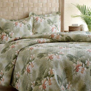tropical orchid 3 piece reversible quilt set by tommy bahama bedding - Vintage Bedding