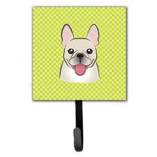 Checkerboard French Bulldog Leash Holder and Wall Hook by Caroline's Treasures