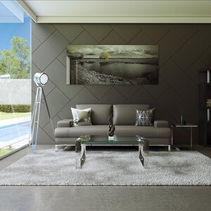 Angeline Leather Sofa by Wade Logan