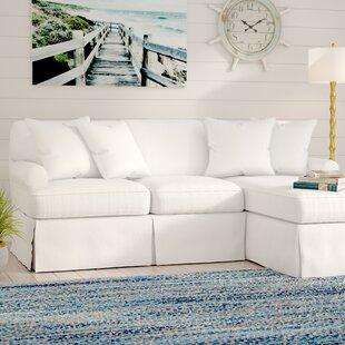 Beachcrest Home Coral Gables T-Cushion Sofa Slipcover Set