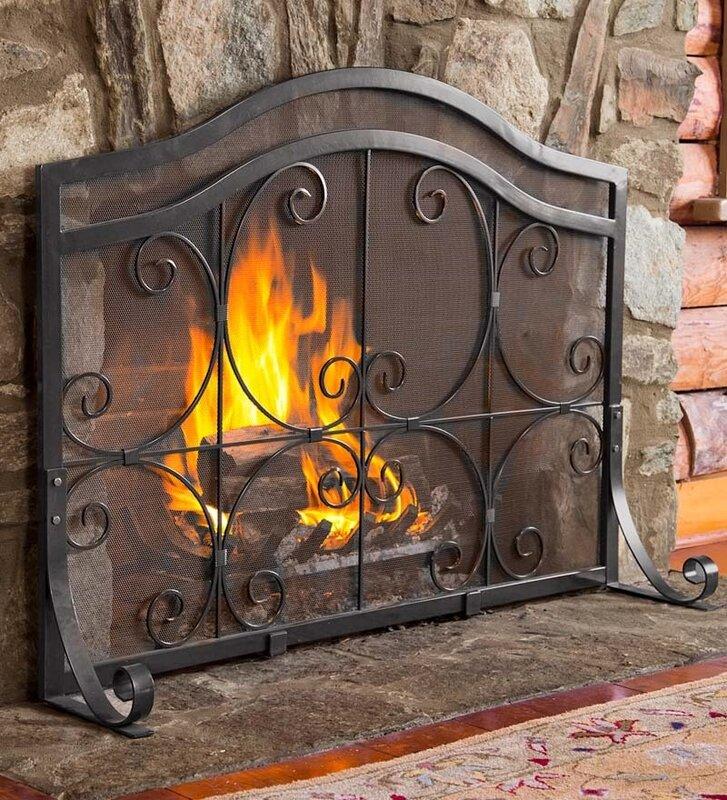 Plow & Hearth Single Panel Fireplace Screen & Reviews | Wayfair