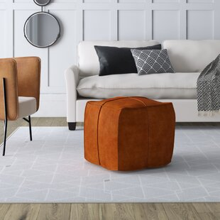 Gurrola Leather Pouf