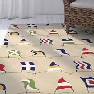 Emmeline Hand Hooked Sand Indoor/Outdoor Area Rug