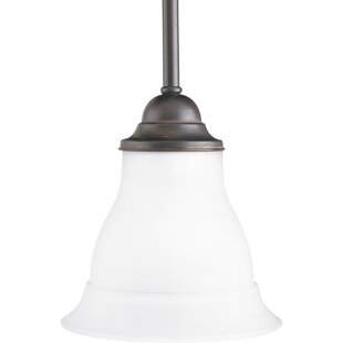 Charlton Home Roquefort 1-Light Bell Pendant