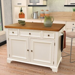 Gerson Drop Leaf Kitchen Island DarHome Co
