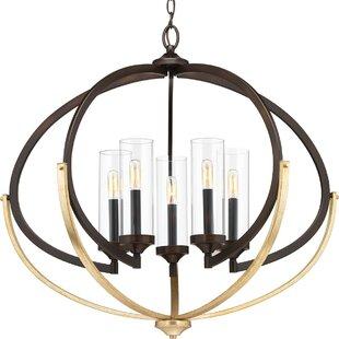 Wrought Studio Delancey 5-Light Globe Chandelier