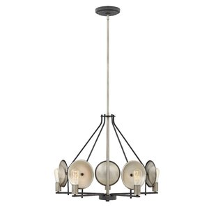 Anspach 5-Light Wagon Wheel Chandelier by..