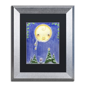'Holiday Moon' by Jennifer Nilsson Framed Graphic Art