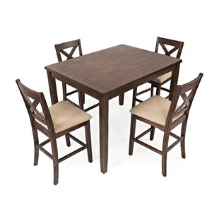 Belle Furnishings Willow Run 7 Piece Dining Set In Rustic White