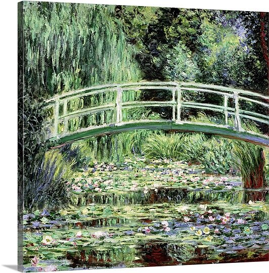 «white les nymphéas, 1899» par l'impression de peintures Claude Monet
