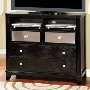 Clarion Textured Modern Media 4 Drawer Chest
