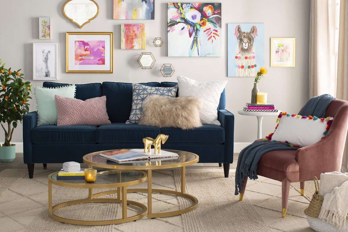 Style Your Home Like a Designer with Accessories: glam living room design wayfair
