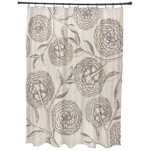 Chickamauga Antique Flowers Print Single Shower Curtain