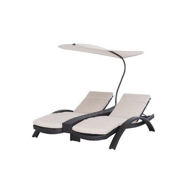 Barlyne Reclining Chaise Lounge with Cushion Frame Color: Frequency by Darby Home Co