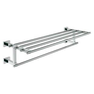 Reviews Essentials Cube Wall Shelf ByGrohe