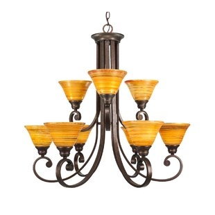 Fleur De Lis Living Babin 9-Light Shaded Chandelier