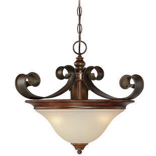 Fleur De Lis Living Jaime 3-Light Bowl Pendant