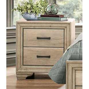 Union Rustic Thigpen Wooden 2 Drawer Nightstand