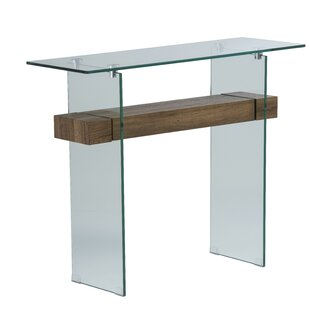 Hufnagel Glass Console Table By Mercury Row