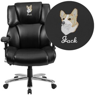 Compare Laduke Leather Executive Chair by Symple Stuff