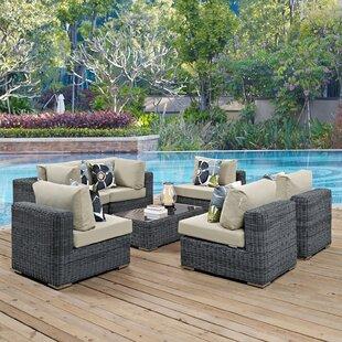 Brayden Studio Keiran 7 Piece Sunbrella Sofa Set with Cushions