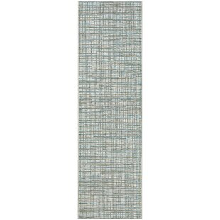 Carone Ivory/Hunter Indoor/Outdoor Area Rug