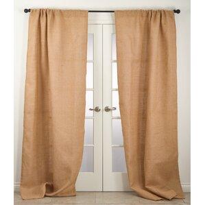 Burlap Solid Single Curtain Panels