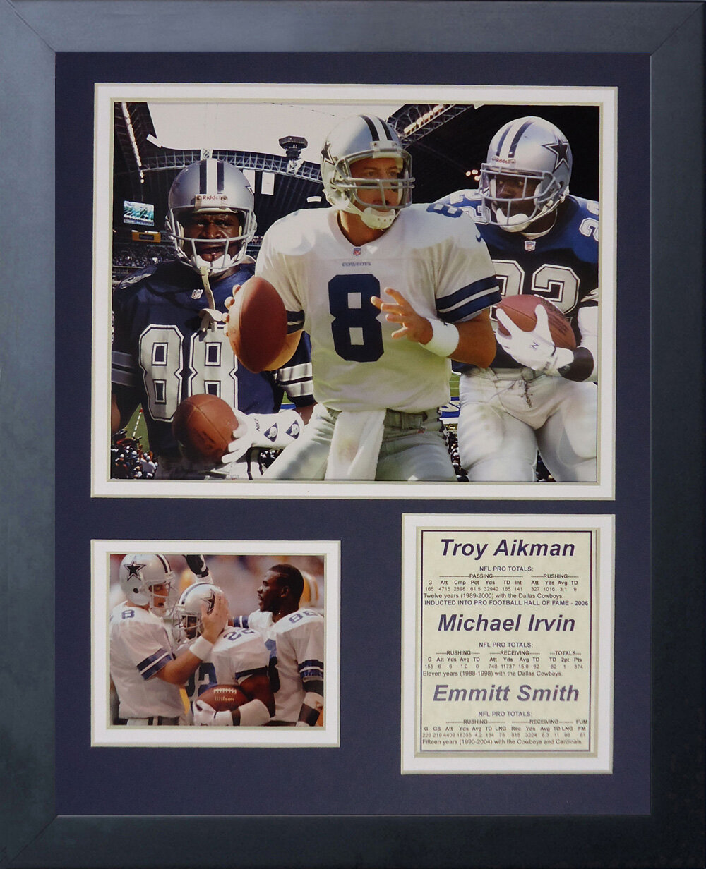 Legends Never Die Dallas Cowboys Aikman Irvin And Smith