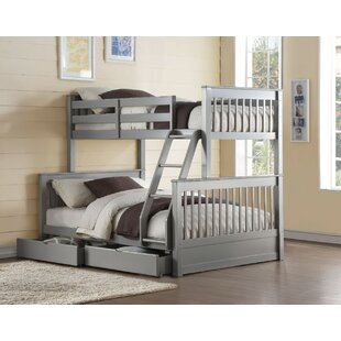 Orton Wooden Twin over Full Bunk Bed with 2 Drawers
