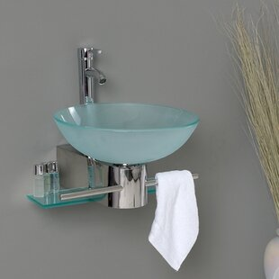 Vetro Glass Circular Vessel Bathroom Sink Fresca