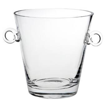 Abigails 164542 Maui Ripple Glass Ice Bucket Clear Home Kitchen Furniture