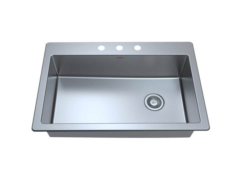 Ancona valencia series 329 x 22 single bowl drop in kitchen sink valencia series 329 x 22 single bowl drop in kitchen sink workwithnaturefo