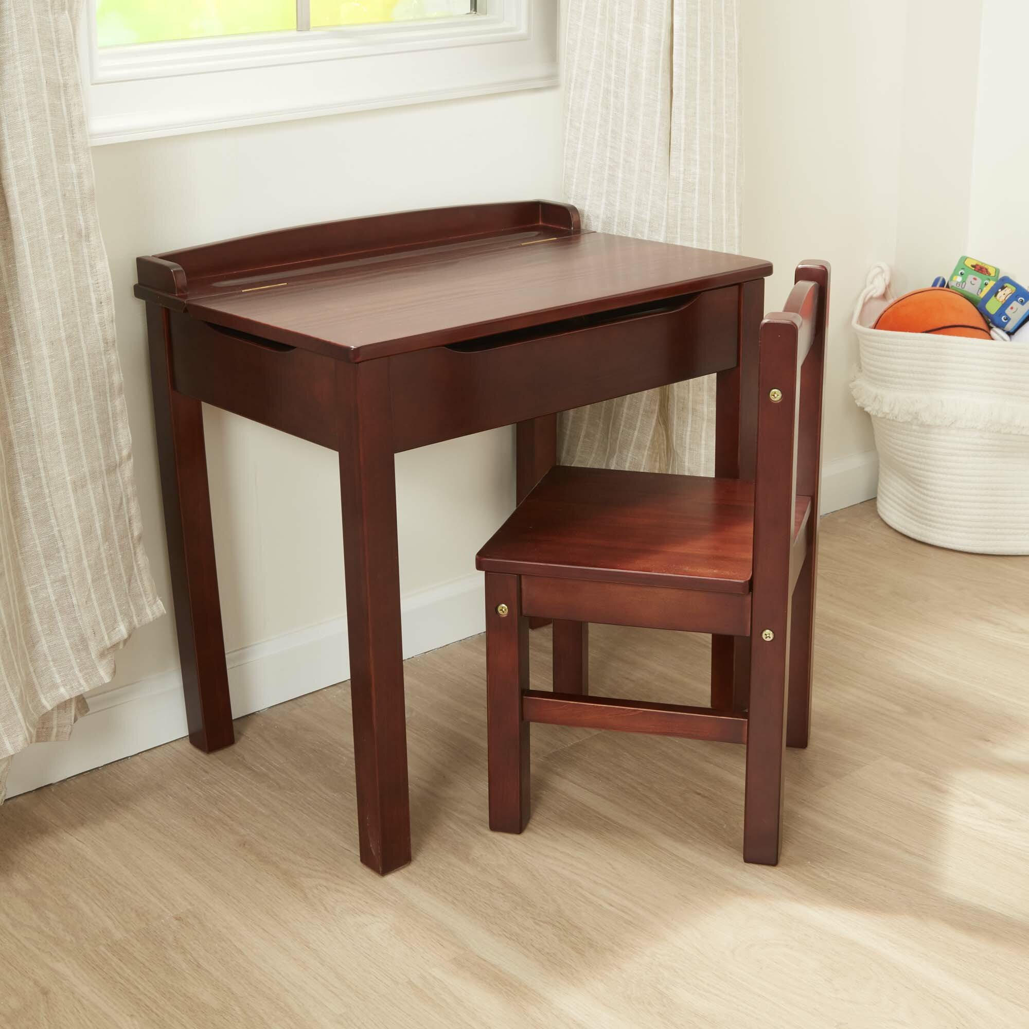 Surprising Kids Lift Top 2 Piece Writing Table And Chair Set Dailytribune Chair Design For Home Dailytribuneorg