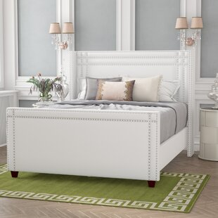 Kelvin Wingback Upholstered Panel Bed by Willa Arlo Interiors