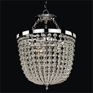 Arcadia 8-Light Crystal Chandelier by Glow Lighting