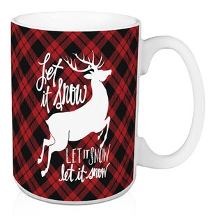 Annabelle Let It Snow Plaid Coffee Mug